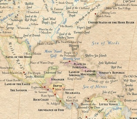 World map with place names swapped out for their original meanings | A Geography Scrapbook | Scoop.it