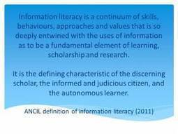 Blue skies: a new definition of information literacy | A New ... | Teaching through Libraries | Scoop.it