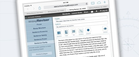 Writing Reviser by SAS® Curriculum Pathways® | Useful tech tools for teachers | Scoop.it