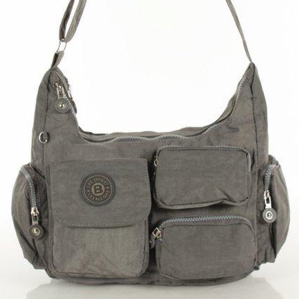 ***   Umhängetasche Tasche Nylon grau BAG STREET + LECONI Leder Schlüßeltasche klein | Damen Handtaschen Günstig | Scoop.it