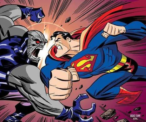 Superman versus Darkseid! - Art by Bruce Timm | GeekedMedia | Scoop.it