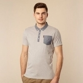Big and Tall Grey Chambray Collar Jersey Polo Shirt - Just Be Fancy | Online Clothes for Men | Scoop.it