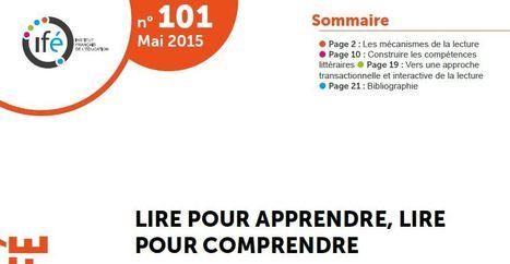 LIRE POUR APPRENDRE, LIR POUR COMPRENDRE (pdf) | Ressources pour les TICE en primaire | Scoop.it