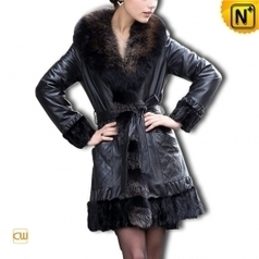 Sheepskin Fur Trim Coat CW610027 | Fur Trimmed Coats | Scoop.it