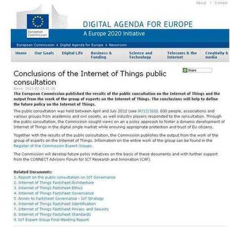 EU-Kommission veröffentlicht Experten-Bericht zum Internet of Things | hozpoz | Scoop.it