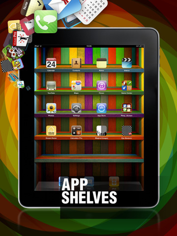 iphone 4 wallpapers shelves. Wallpapers and App Shelves