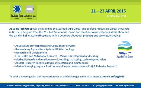 AquaBioTech Group at Seafood Global Expo | Recirculating Aquaculture System | Scoop.it
