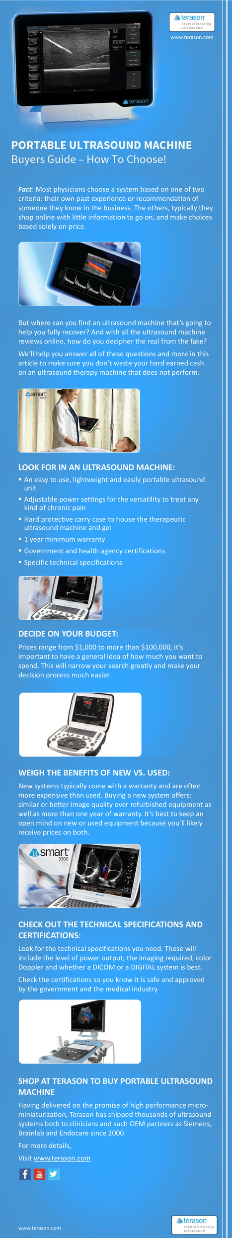 Buyers Guide for Portable Ultrasound Machine | Infographic Collection | Scoop.it