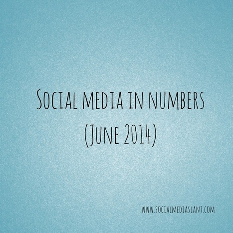 Social media in numbers (June 2014) | Social Media (network, technology, blog, community, virtual reality, etc...) | Scoop.it
