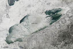 Lake Erie Nearly Covered In Ice: See Stunning Photos From Space   All about water, the oceans, environmental issues   Scoop.it