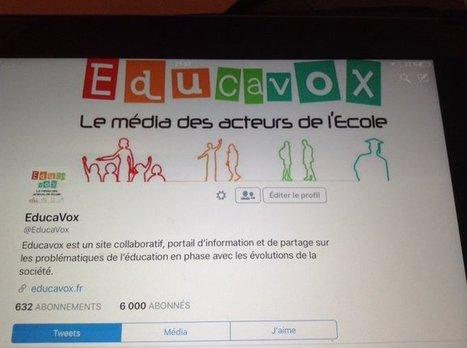Tweet from @EducaVox | Le petit journal de l'An@é | Scoop.it