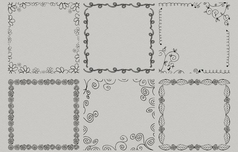 Freebie | Doodled Square Border Overlays (Version 3) | Design Freebies & Deals | Scoop.it