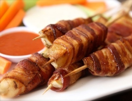 Bacon Wrapped Potato Skewers Recipe | Snakes | Scoop.it