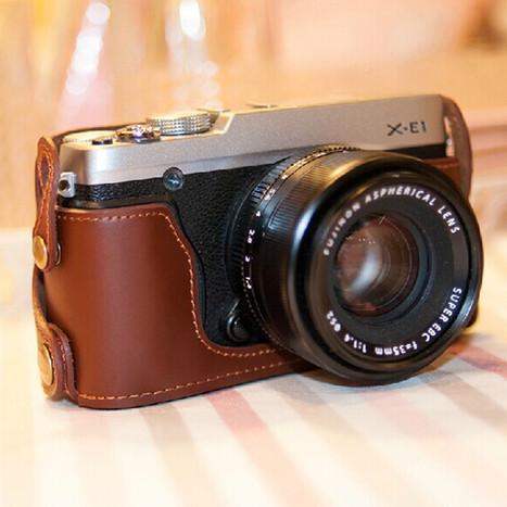 2015 new Genuine Leather Camera case bag bottom case for Fujifilm Fuji X-E1 X-E2 XE1 XE2 -  Consumer Electronics | Fujifilm X Series APS C sensor camera | Scoop.it