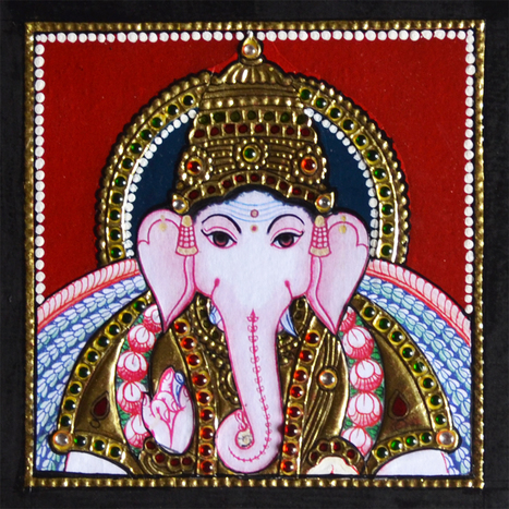 Ganesha Tanjore Special Paintings - 6X6 inches | Furniture, Handicraft | Scoop.it