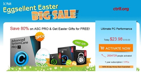 Advanced SystemCare 7 PRO Coupon Code: Discount 80%Easter Gift | Software - Free Download, Giveaway and Coupon Promo | Scoop.it