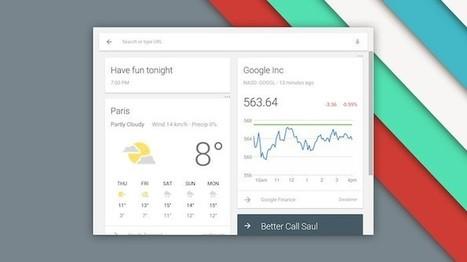 Le lanceur de Chrome OS comprend maintenant Google Now - BlogNT (Blog) | netnavig | Scoop.it