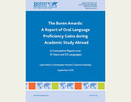 The Boren Awards: A Report of Oral Language Proficiency Gains During Academic Study Abroad (2015) | ELT (mostly) Articles Worth Reading | Scoop.it