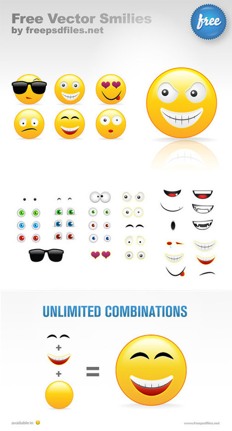 PSD Smilies Creation Kit | FREE PSD FILES | Crazy 4 Photoshop | Scoop.it