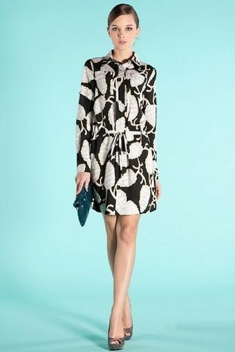 Plant Print Long Sleeve Dress - OASAP.com | Online Fashion | Scoop.it