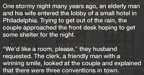Hotel clerk goes above and beyond for elderly couple in need, gets thanked in an incredible way   Guest Service   Scoop.it