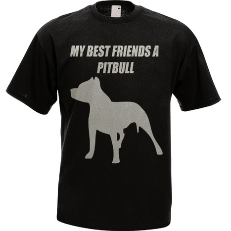 T32 Custom T-Shirt MY BEST FRIENDS A PITBULL Tee   Customizable Clothing and Accessories   Scoop.it