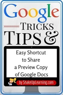 Amazing Shortcut for Sharing Google Docs | Jewish Education Around the World | Scoop.it