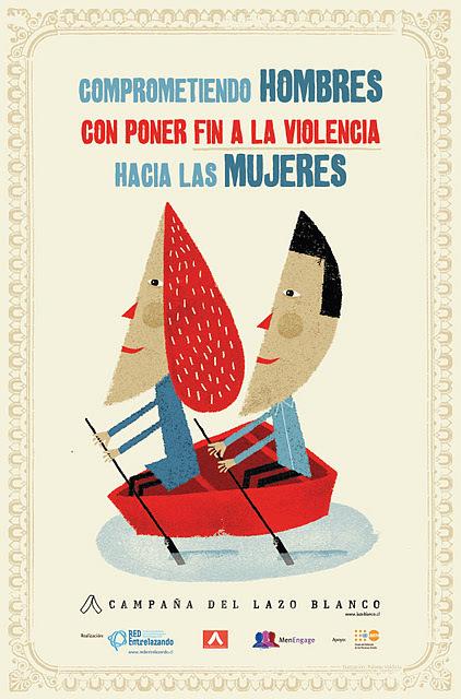 Campaña del Lazo Blanco Chile www.lazoblanco.cl: Nuevo Afiche Campaña del Lazo Blanco: Comprometiendo Hombres con Poner Fin a la Violencia Hacia las Mujeres | Cuidando... | Scoop.it