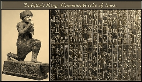 Babylonian King Hammurabi's code of laws. | Ancient Art History Summary | Scoop.it