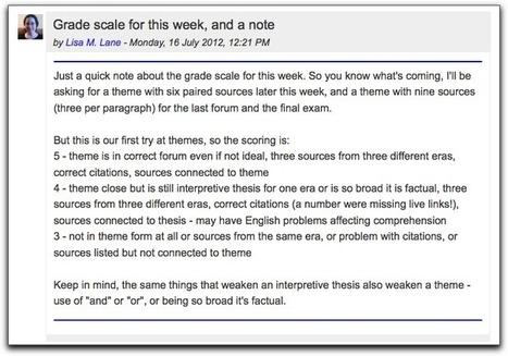 Visual tricks for instructor forum posts « Lisa's (Online) Teaching Blog   Elearning Pedagogy   Scoop.it