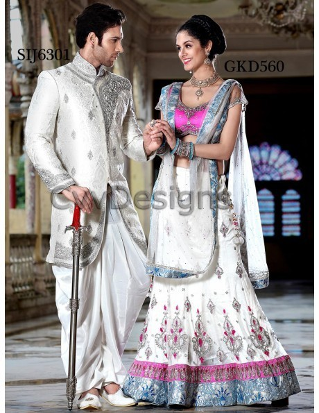 Buy online Bride and Groom attire's Stunning combination collection. | shopping | Scoop.it