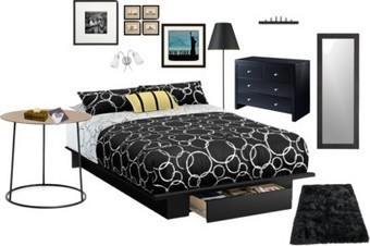 Black and White Theme for the Bedroom | Home Decorating and DIY | Scoop.it