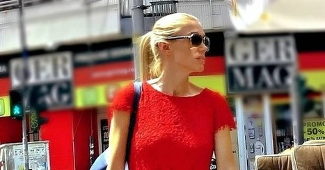 Lady in Red with Gladiator Sandals | The Emporialist│romanian street fashion magazine | The Emporialist | Scoop.it