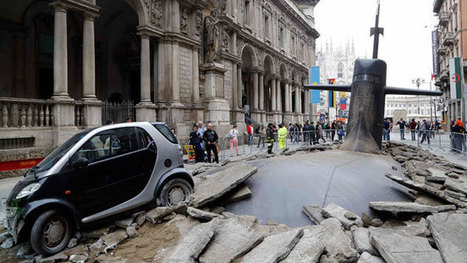 Buzz Publicitaire venu d'Italie ! - Un sous-marin surgit des rues de Milan | Mass marketing innovations | Scoop.it