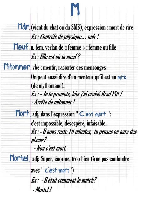 Dictionnaire collégien/français | Au menu du canard | CLEMI -  Des nouvelles des élèves | Scoop.it