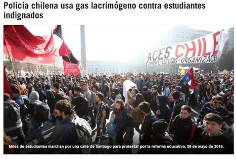 CNA: NO es VENEZUELA - Policía chilena usa gas lacrimógeno contra estudiantes indignados | La R-Evolución de ARMAK | Scoop.it