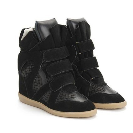 Upere Wedge Sneakers Suede Snake Black - $190.68 | UPERE Wedge Sneakers Show | Scoop.it