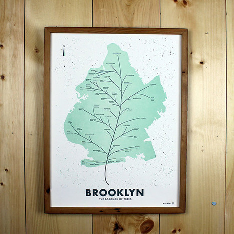 Beautiful City Leaf Map Posters | Le It e Amo ✪ | Scoop.it