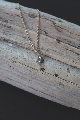 Veronica & Harold - Hilary Faceted Pyrite Teardrop on Gold Chain | Show Pony Boutique | Scoop.it