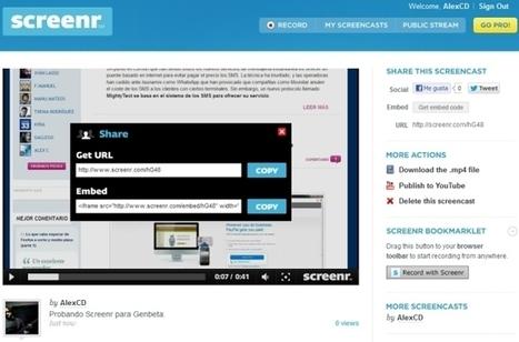 Graba screencasts de forma rápida y sencilla desde el navegador con el excelente Screenr | Cajón de sastre Web 2.0 | Scoop.it