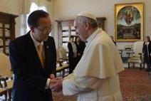 Ban Ki-Moon honoré de rencontrer le pape François, « un ... - Radio Vatican | habemuspapam2013 | Scoop.it
