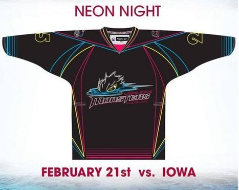 Lake Erie Monsters to go full Tron, wear special neon jerseys (Photo) | Everything Hockey | Scoop.it