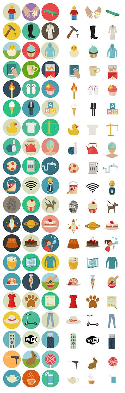 Freebie: Flat Icon Set (60 Icons, PNG, SVG, EPS, PSD, AI) | Smashing Magazine | webdesign to webdesigners and UX designers | Scoop.it