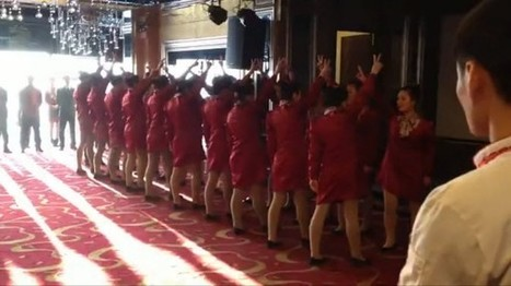 Militaristic Chinese Waitress Group Performance Goes Viral | China Commentary | Scoop.it