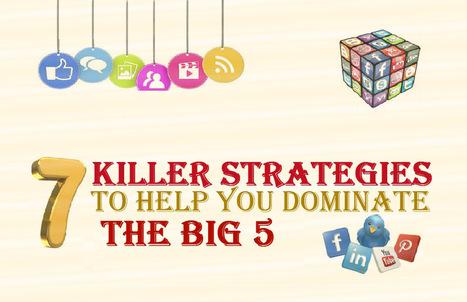 7 Killer Strategies to help you Dominate The Social Media Big 5: Facebook, Twitter, YouTube, LinkedIn, Pinterest | Dedicated Resources | Scoop.it