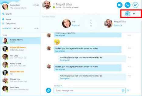 Skype intègre désormais la traduction temps réel... en français | Communication et réseaux | Scoop.it