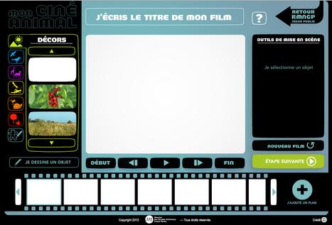Créer ton film - Mon ciné animal | CRÉER - DESSINER EN LIGNE | Scoop.it
