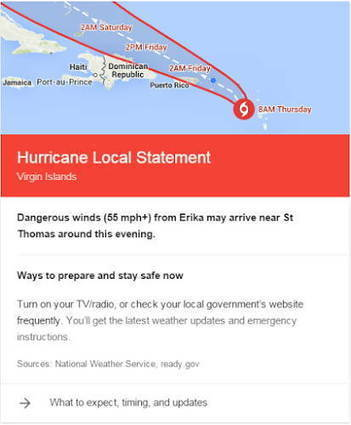 Google To Add Hurricane Tips To Search Results | Nerd Vittles Daily Dump | Scoop.it