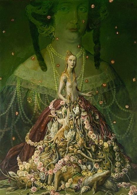 Artist Paints Herself Dressed in Bizarre Dead Animal Dresses   Strange days indeed...   Scoop.it