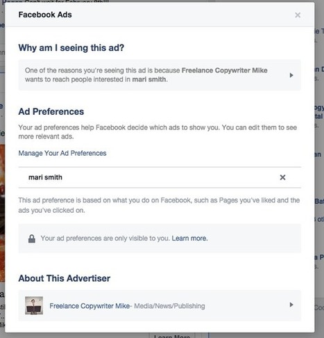 HOW TO: See Why You're Seeing A Facebook Ad   SocialTimes   Facebook for Business Marketing   Scoop.it